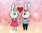 Coelhinhos apaixonados