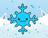 Floco de neve kawaii