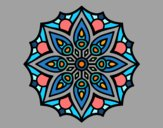 Mandala simetria simples