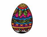 Desenho Ovo de Páscoacom teste padrão vegetal pintado por gifinotti