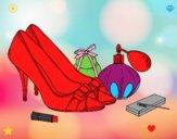 Sapatos e maquiagem