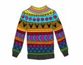 Suéter de lã impressa