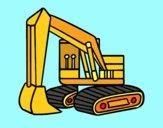 Uma escavadora