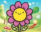 Uma flor sorridente