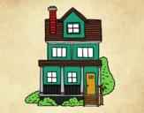 Casa de dois andares com sótão