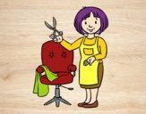Desenho Estilista cabeleireira pintado por davidlessi