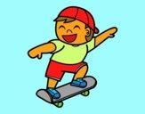 Menino com skate