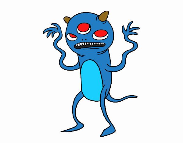 Monstro três -eyed