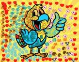 Desenho Papagaio feliz pintado por jjdantas