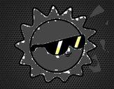 Sol com óculos