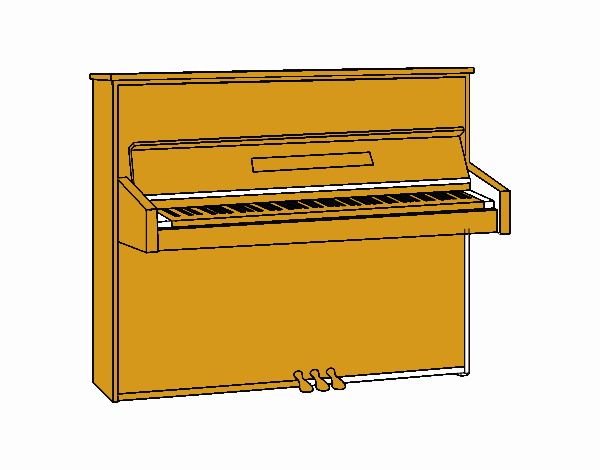 Um piano vertical