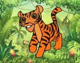 Desenho Um tigre pintado por Craudia