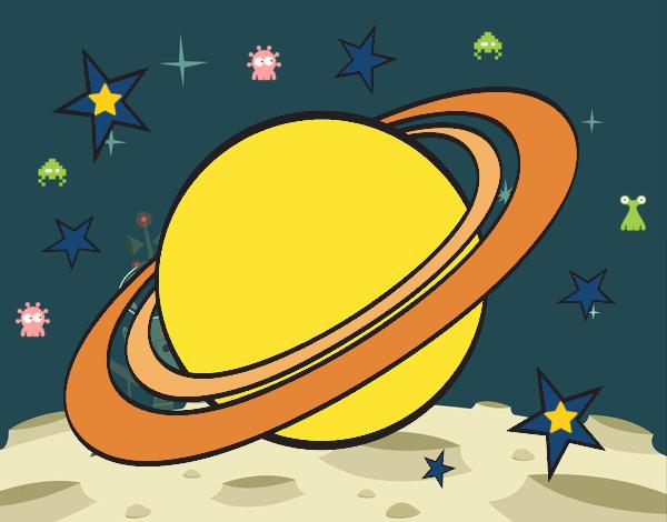 Desenho Anel planetário pintado por Fernandam