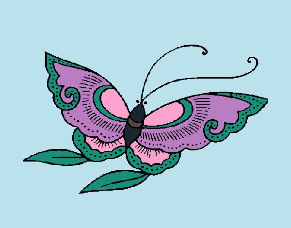 Desenho Borboleta 8a pintado por Craudia