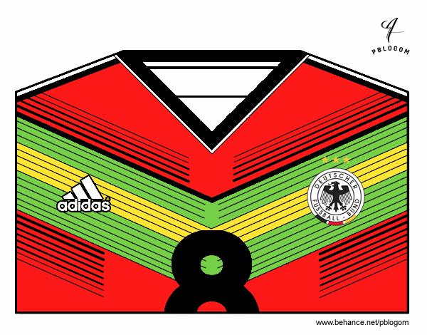 Camisa da copa do mundo de futebol 2014 da Alemanha