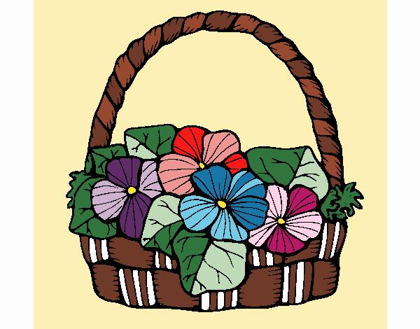 Desenho Cesta de flores 6 pintado por Fernandam