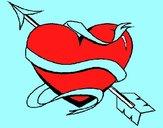 Coração com seta
