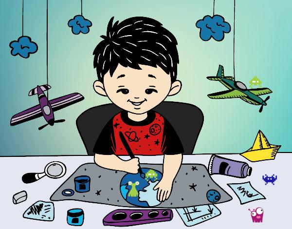 Desenho Criatividade das crianças pintado por Fernandam