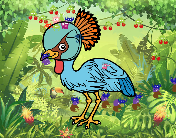 Grou-coroado-oriental