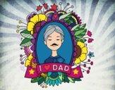 Desenho I love Dad pintado por Fernandam