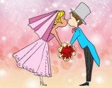 Desenho Marido e mulher se beijando pintado por davidlessi