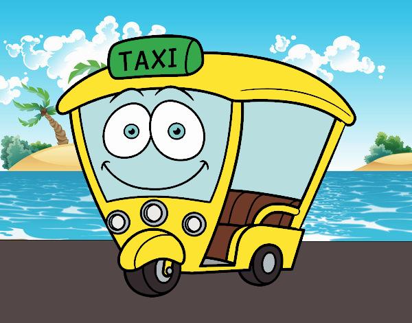 Desenho Moto - Taxi pintado por Craudia