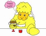 Ovelhas pequenas para colorir ovos de páscoa