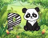 Desenho P de Panda pintado por Craudia
