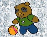 Panda com bola