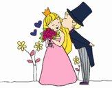 Recém-casados príncipes