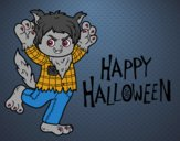 Traje de lobo para Halloween