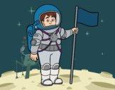 Desenho Um astronauta pintado por Fernandam