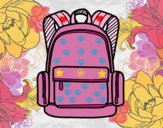Uma mochila escolar