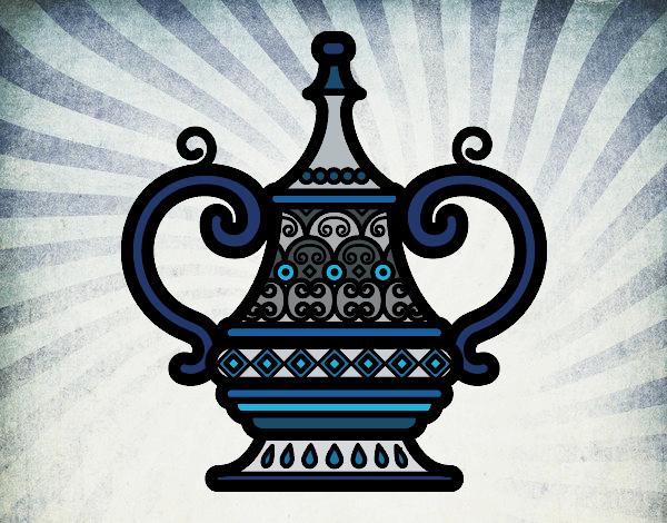 Desenho vaso árabe pintado por Fernandam