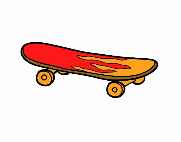Desenho De Skate Para Imprimir: Desenho De O Skate Pintado E Colorido Por Usuário Não