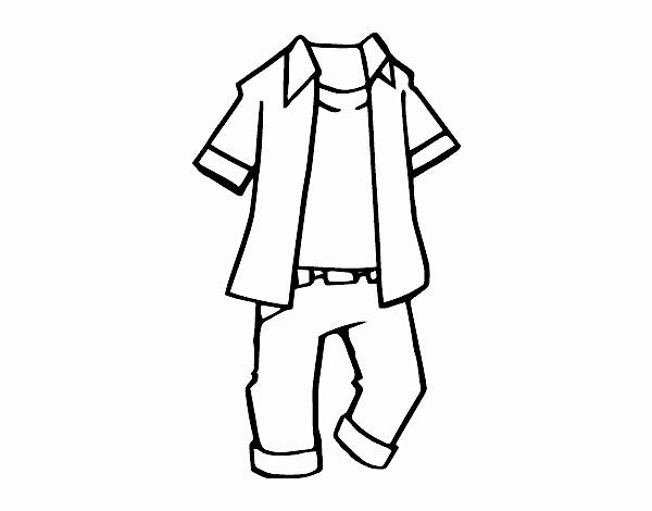 Desenho De Roupa De Crianças Pintado E Colorido Por Usuário