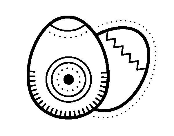 Desenho de 2 ovos de páscoa para Colorir