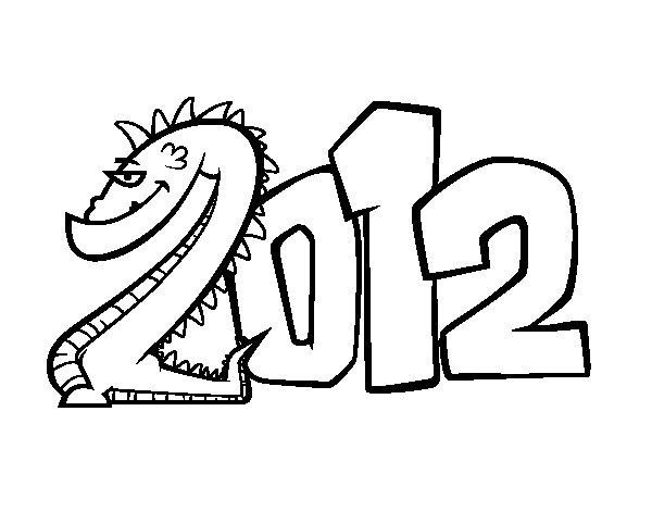Desenho de 2012 para Colorir
