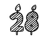 Desenho de 28 anos para colorear