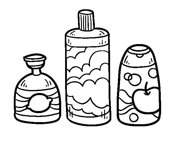 Desenho de 3 sabonetes de banho para Colorir