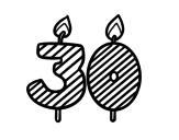 Desenho de 30 anos para colorear