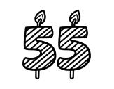 Desenho de 55 anos para colorear