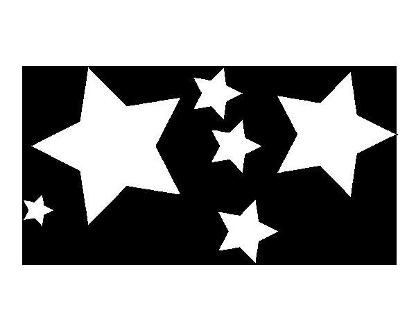 Desenho de 6 estrela para Colorir