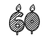 Desenho de 60 anos para colorear