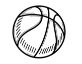 Desenho de A bola de basquete para colorear