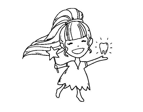 Desenho de A fada do dente para Colorir