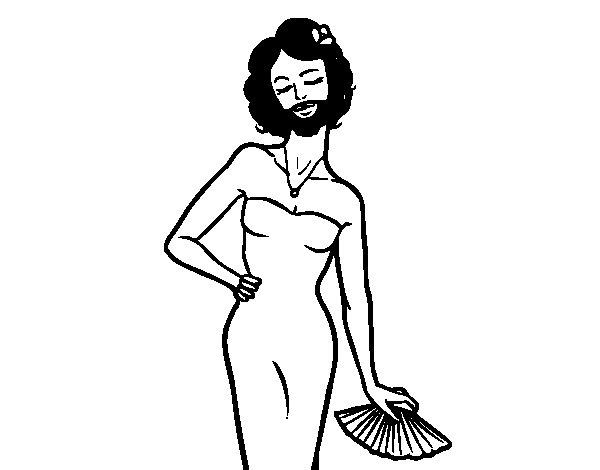 Desenho de A mulher barbada para Colorir