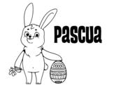 Desenho de A Pascoa para colorear