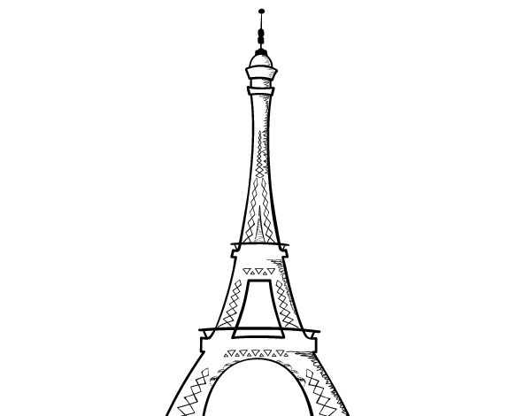 Desenho De A Torre Eiffel Para Colorir
