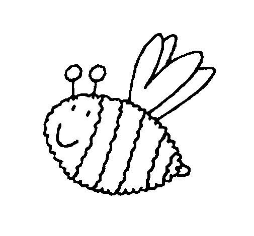 Desenho de Abelha 4 para Colorir
